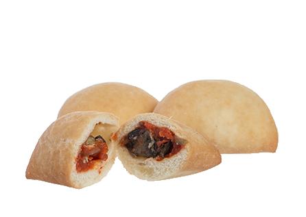 Prodotto Ripieno Fritto | Pomodoro Melanzane e Provola | Delice Lab