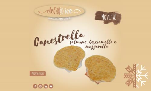 Novità | Canestrella | Capasanta | Salmone e besciamella | Delice Lab